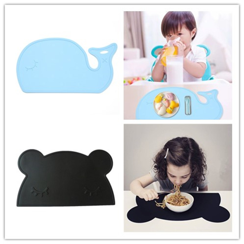 Cartoon Waterproof Silicone Placemat Baby Dinning Table Pads Quality Silica Gel Kids Tableware Mat Large Size BPA Free
