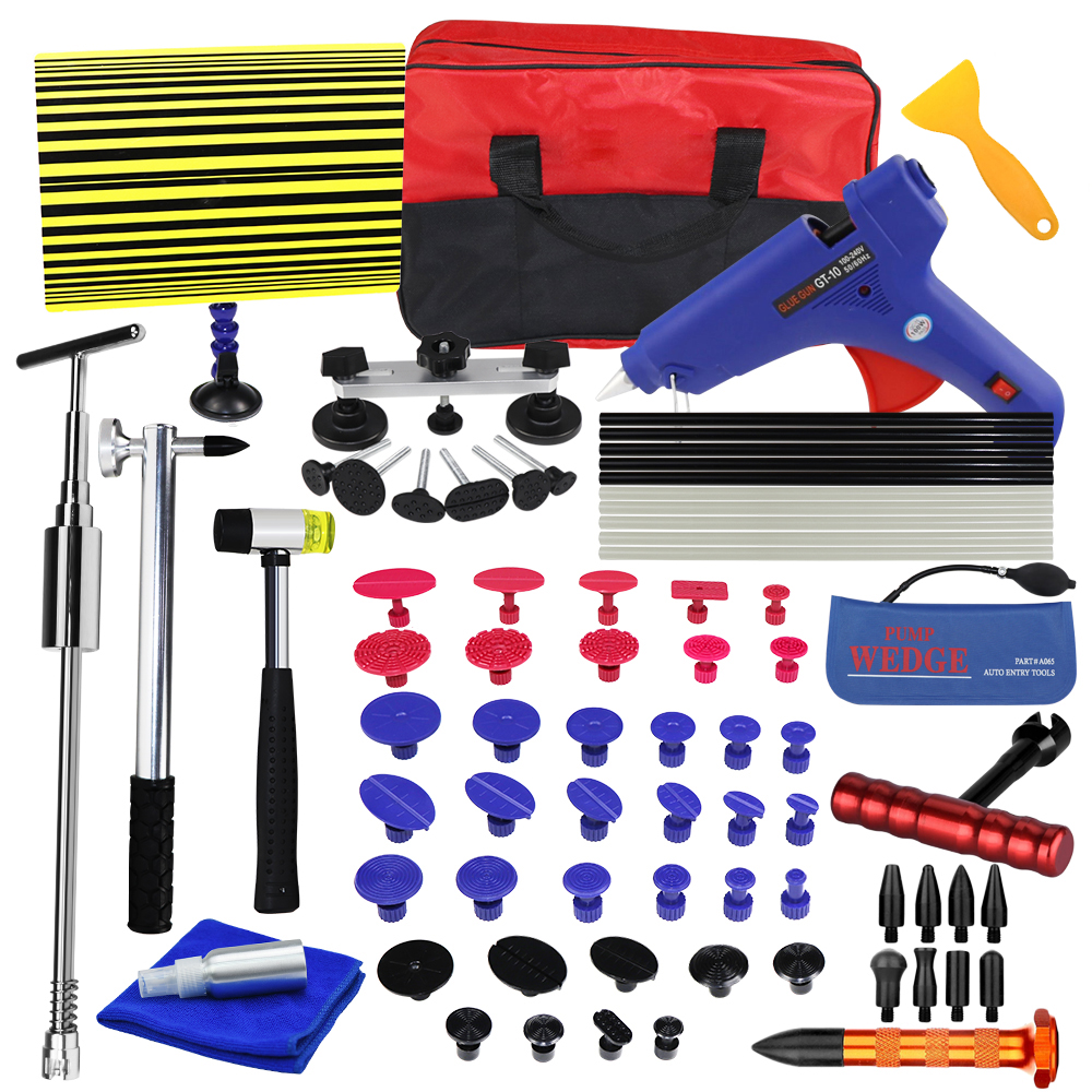 WHDZ PDR Car Dent Repair Tool set Slide Hammer Glue Gun Dent Puller auto body repair tools Dent removal tool kit watch link removal kit adjuster repair tool set with 5 pins