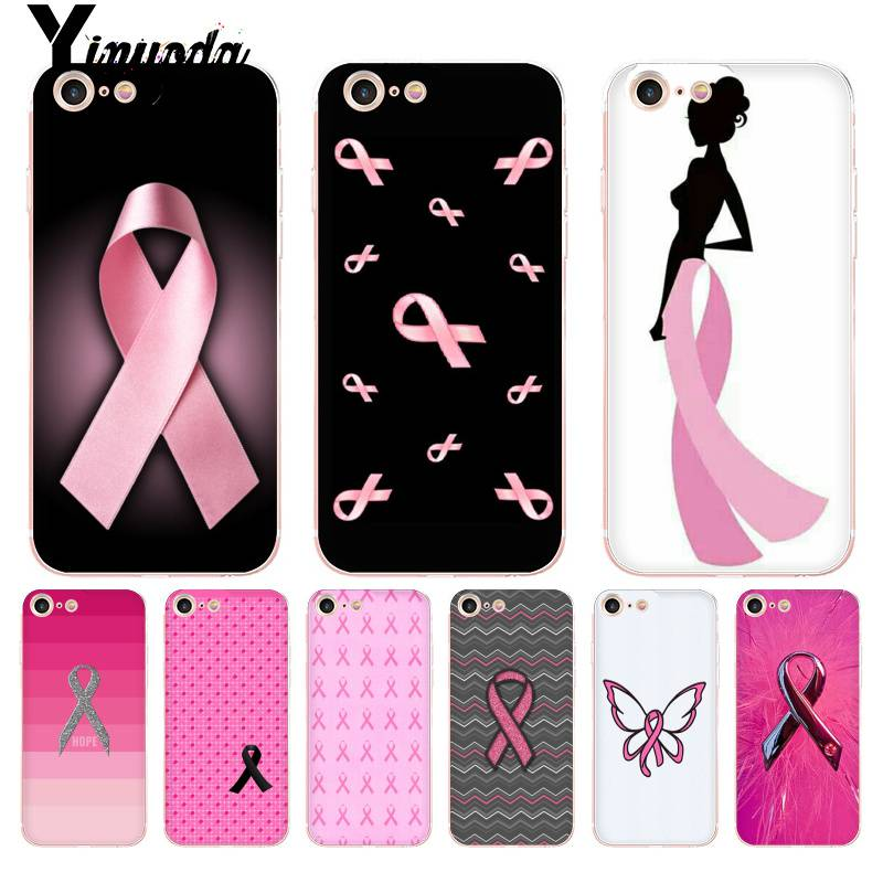 Us 1 14 11 Off Yinuoda For Iphone 7 6 X Case Girly Breast Cancer Pink Ribbon Coque Shell Phone Case For Iphone 8 7 6 6s Plus X 5 5s Se 5c Xs Xr In
