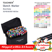 Touchnew 168  Colors Set Artist Dual Head Sketch Copic Markers For Eco-friendly School Supplies Marker Pen Design