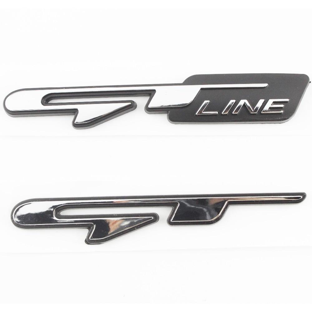 3D Stereo Chrome Car Sticker for KIA Optima K5 GT Line Auto Logo Emblem Badge Rear Tail Trunk Decorative Stickers Decoration