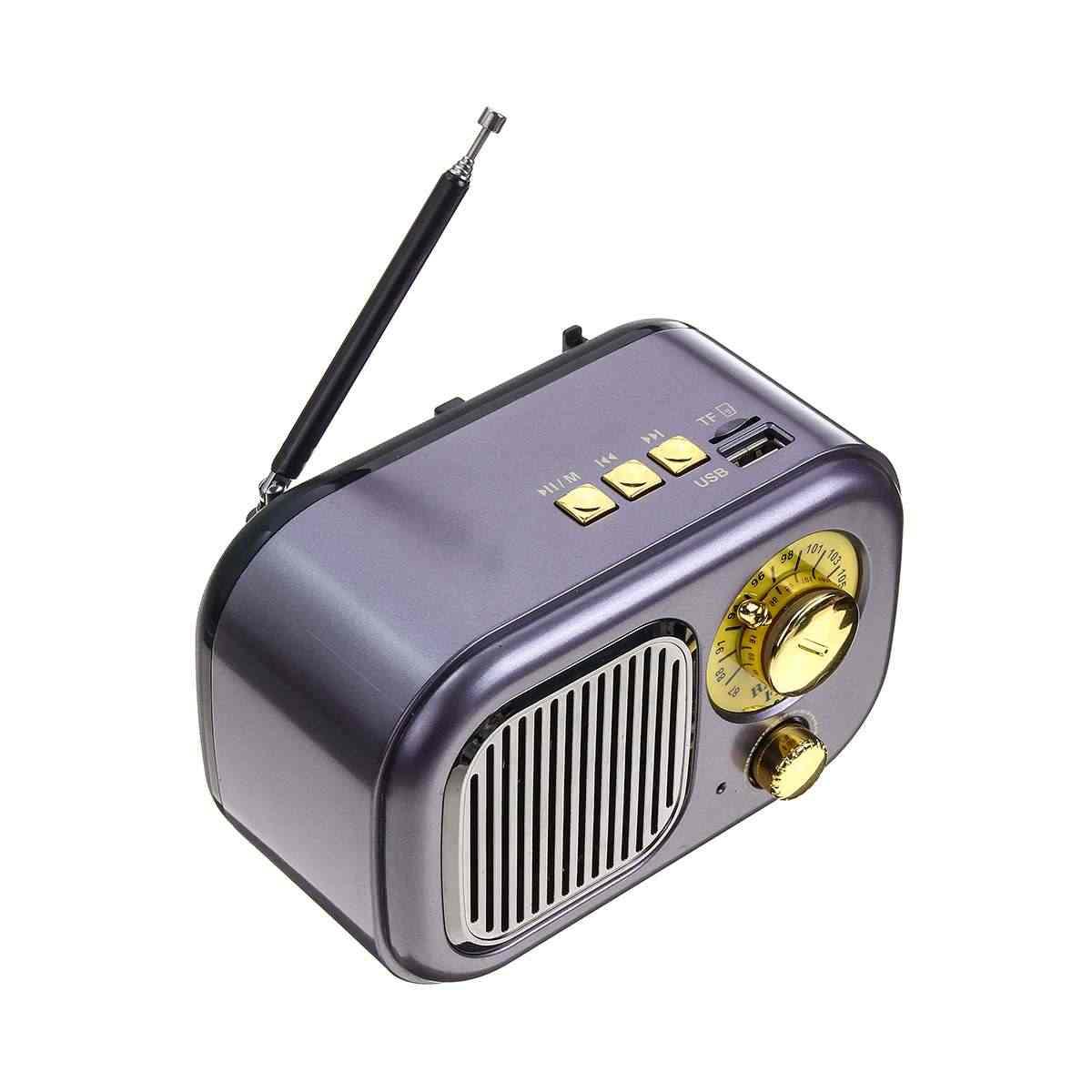 5 ワット USB ミニ bluetooth ポータブルレトロビンテージ FM ラジオサポート AUX TF カードスピーカー音楽プレーヤー内蔵充電式バッテリー