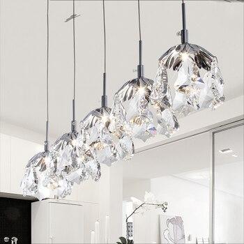 Petaloide lámpara De cristal lámpara moderna Lamparas De Techo ...