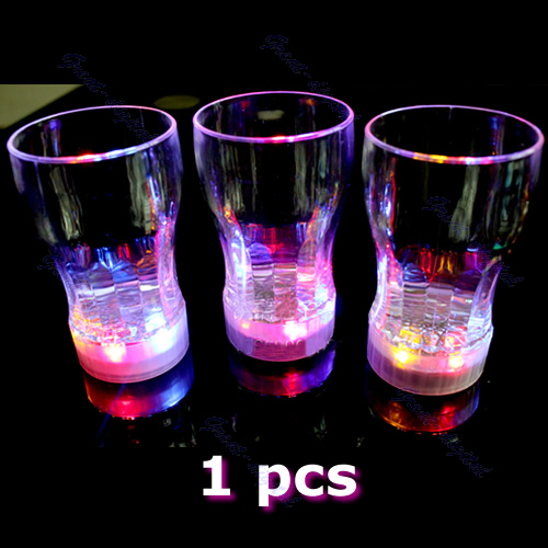 LED Light Flashing Decorative S size Beer Mug Drink Cup For Parties Wedding Clubs