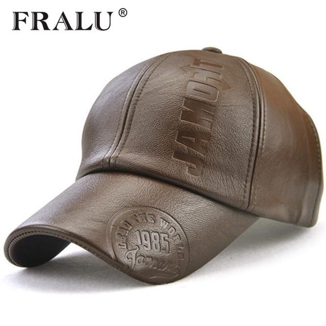 b03c3b1cd49 FRALU Baseball Cap Men s Adjustable Cap Casual leisure hats Solid Color  Fashion Snapback winter Fall hat High quality caps