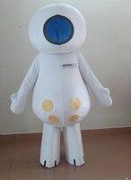 Мультипликационный персонаж милые белые счастливые куклы Маскоты костюм нарядное платье Карнавальный костюм для Хэллоуина вечерние событ