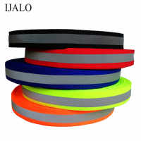 20mmx10mm * 50 Meter, Fluorescent Reflective Fabric Ribbon Webbing Tape Strip Edging Braid Trim Sew On Tape garment accessories