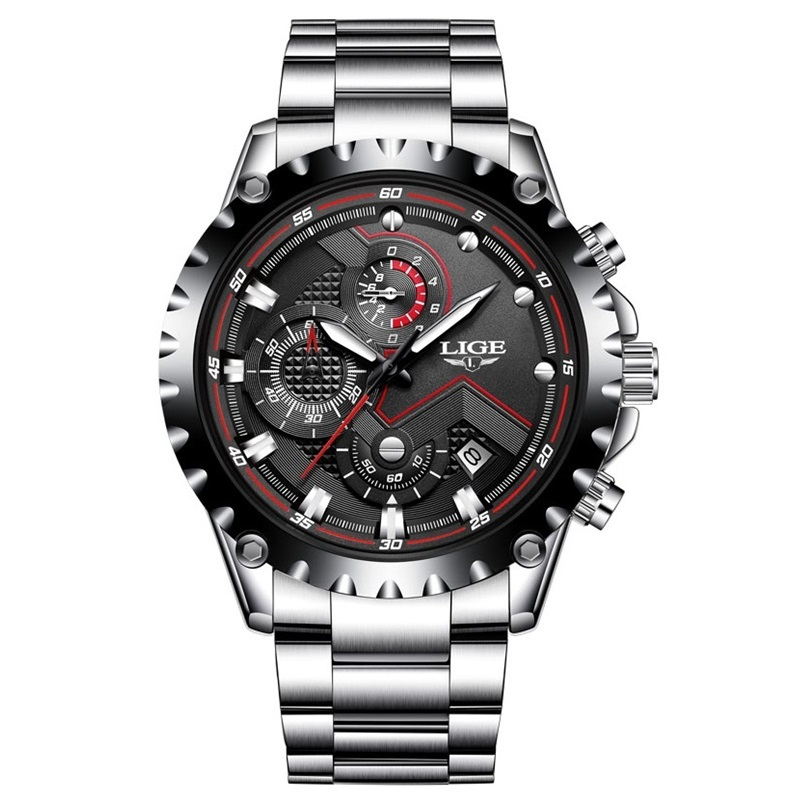 New LIGE Brand Men's Watches Sport Waterproof Quartz Watch Men Stainless Steel Business Clock Man Wristwatches Relogio Masculino new lige watches men luxury brand sport waterproof quartz watch men full stainless steel wristwatch man clock relogio masculino