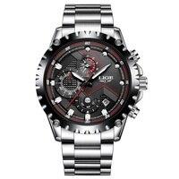 New LIGE Brand Men S Watches Sport Waterproof Quartz Watch Men Stainless Steel Business Clock Man