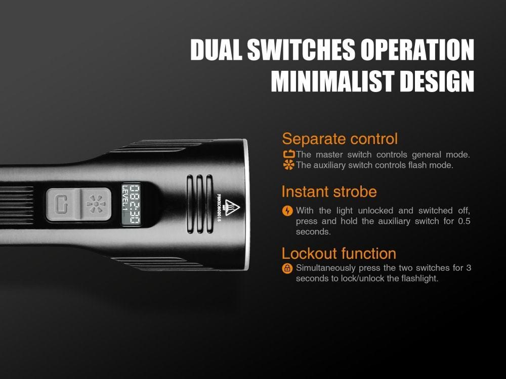 Fenix uc52 CREE xhp70 LED TORCIA 3100 Lumen con oled-display e micro-USB