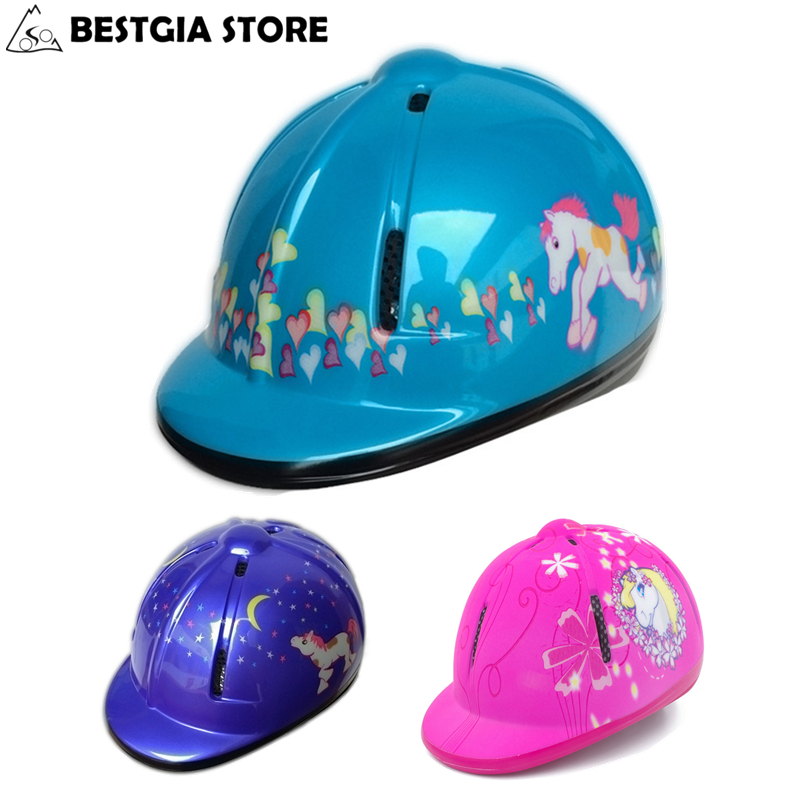 CE Kids Bike Helmet Bicycle Horse Riding Helmet for Children Safety Protective Equestrian Helmet Outdoor Sports Hats Cap 48-54cm