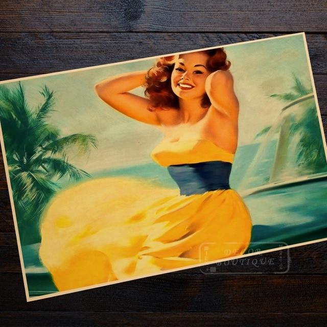 Super Model Pin Up Girl in WW2 Pop Art Propaganda Retro Vintage ...