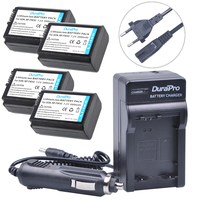 4pcs 2000mAh NPFW50 NP FW50 NP FW50 Camera Battery Wall Charger Kits For Sony Alpha A6500