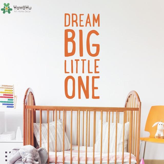 US $3.99 30% di SCONTO|Bambini Camera dei bambini Adesivo Citazione Sognare  in Grande Piccolo Camera Da Letto del bambino Adesivi Murali In Vinile ...