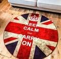 Carpet de personalidad de la moda clásica retro redondo hacer el viejo de la bandera británica retro sala de estar silla de la computadora estera carpet piso esteras