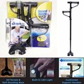 Get up and Go on Cane Two Handles Cane with 3 Built-In Led Lights Easy Adjustable Easy Folding Helps Older Get Out of Seat Stand