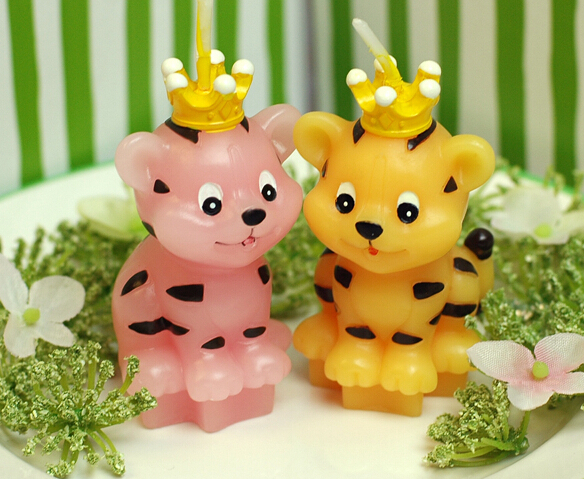 Monkey Mouse Tiger Cow Animal Shape Cake Candles Children Birthday