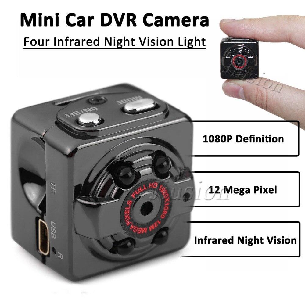 1080 P 720 p Full HD Mini cámara SQ8 secreto del coche deporte videocámara Sensor de movimiento DV DVR grabadora de voz visión Nocturna Micro Cámara