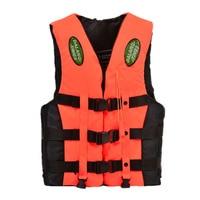 Dalang Times Boating Ski Vest Adult PFD Fully Enclosed Size Adult Life Jacket Orange 3XL