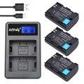 AOPULY 3 Unids 2650 mAh LP-E6 LPE6 LP E6 de la Batería LCD Cargador DUAL USB para canon 5d mark ii/iii 6d 7d 60d 70d 60da dslr eos 5ds