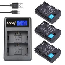 AOPULY 3 Pcs 2650 mAh LP-E6 LPE6 LP E6 Bateria + LCD Carregador DUAL USB para canon 5d mark ii/iii 6d 7d 60d 60da 70d dslr eos 5ds