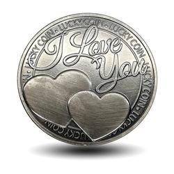 Лидер продаж памятная монета Lucky слова любви романтика пара Collection арт подарки сувенир