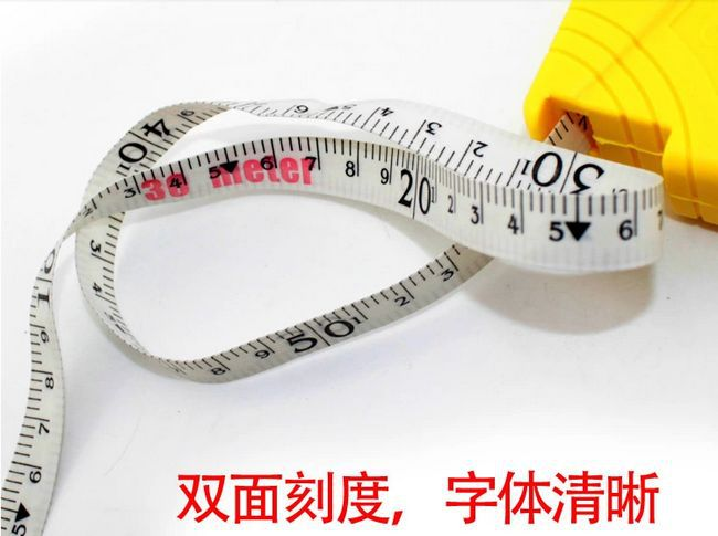 sunred made in hongkong high quality yellow imported fiberglass metric tape measure 30m abs cover no