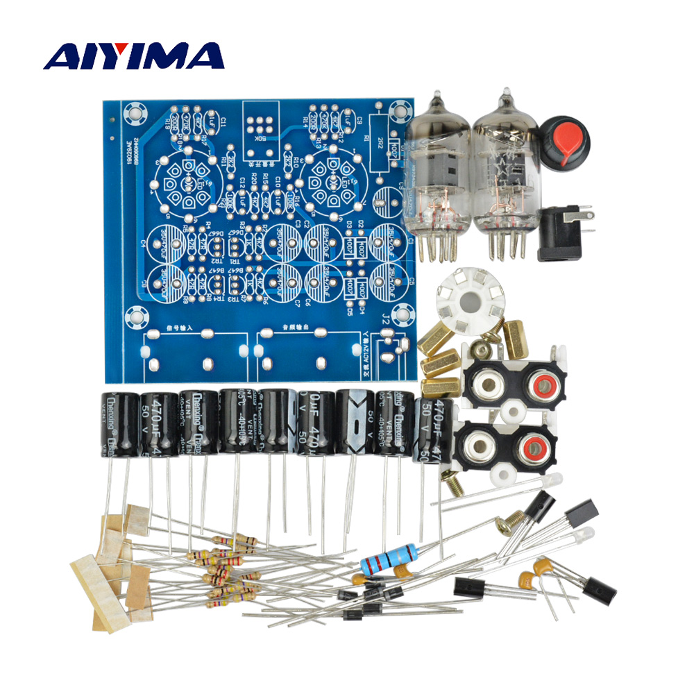 AIYIMA <font><b>Tube</b></font> Amplifiers Audio board Amplificador Pre-<font><b>Amp</b></font> Audio Mixer 6J1 Valve Preamp Bile Buffer Diy Kits image