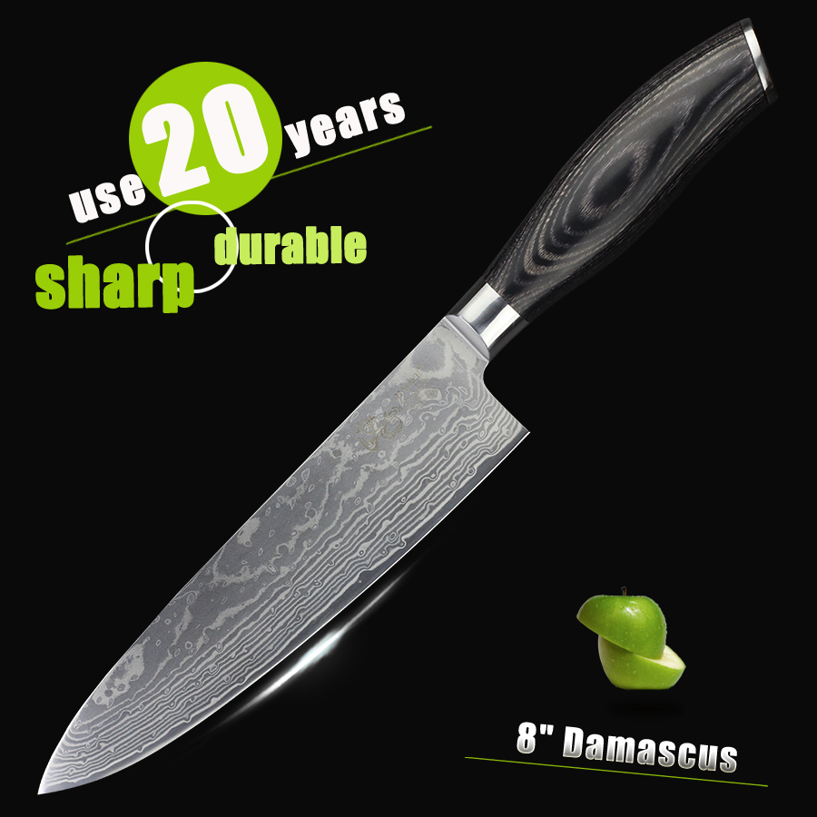 popular kitchen knives wood handle buy cheap kitchen knives wood haoye damascus chef knife japanese vg10 steel kitchen knives color wood handle luxury sharp cooking knife
