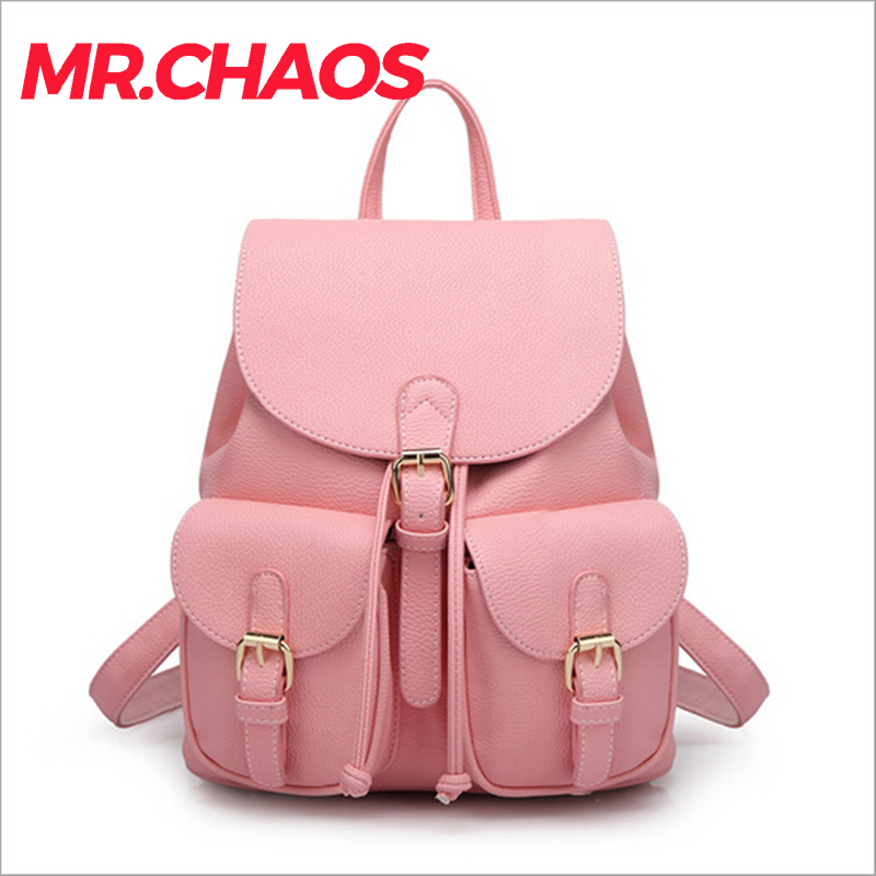 3f24d97e2dbf US $23.18 8% OFF|Women leather backpack for teengaers girls famous designer  cute school bags ladies high quality female backpacks-in Backpacks from ...