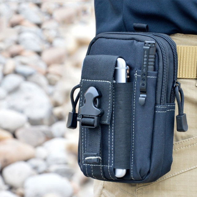 Outdoor Tactical Military Type Holster Belt Bag Wallet Phone Case with Zipper for iPhone 7 /LG