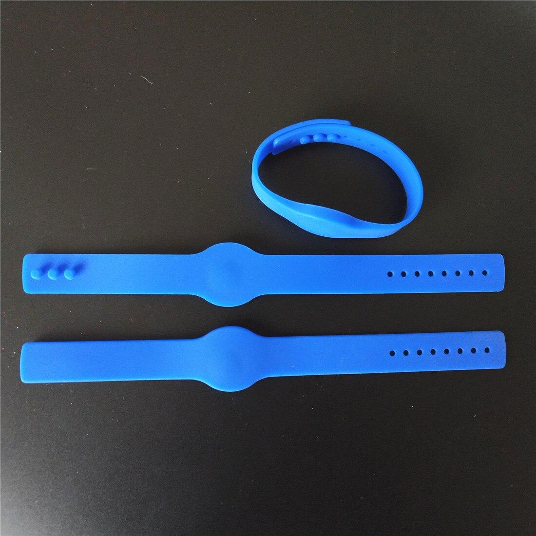 125KHZ EM4100 TK4100 RFID Wristband Blue Waterproof Silicone Bracelet Pack of 5Pcs 65mm