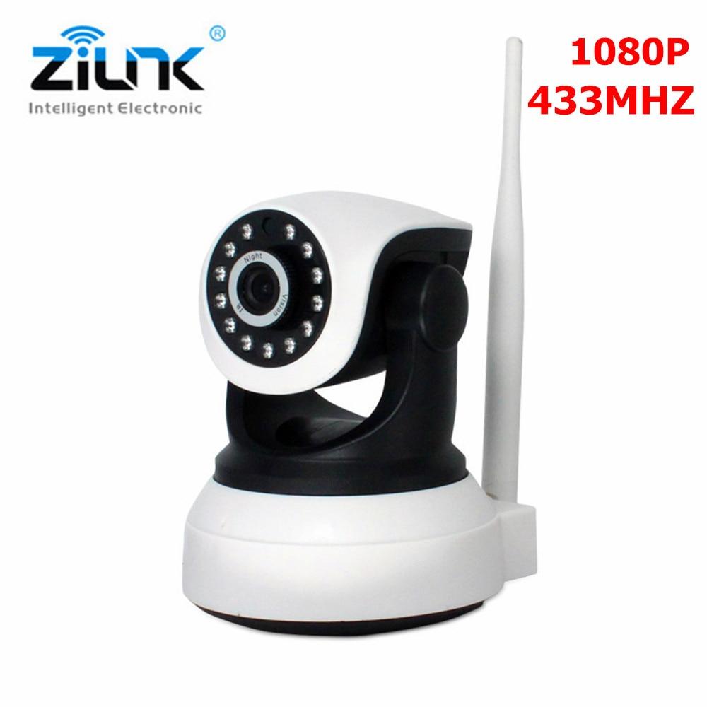 ZILNK Wireless IP Camera HD 2.0MP Wifi Network Support 433MHz Alarm Door Smoke Sensor Surveillance CCTV Camera Baby Monitor hd 720p support alarm accessory wireless ip camera