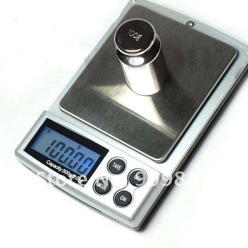 500g 0,01 g nešiojamų elektroninių svarstyklių 500G 0,01 skaitmeninių papuošalų kišeninių svarstyklių skystųjų kristalų ekrano virtuvės maisto svorio balanso su mažmenine dėžute
