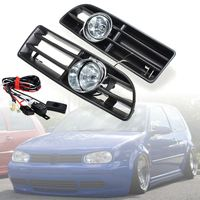 2Pcs 12V Car Front Bumper Grille Grill Driving Fog Lamp Lights With Switch and Harnes for VW JETTA BORA MK4 1999 2004