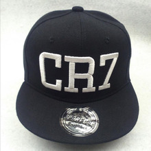 Free Shipping 2016 Children CR7 Folding Letters Embroidered Baseball Cap Hip Hop Hat Children Baby Brand