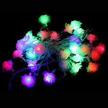 EU Plug LED String Flower Shape Christmas Decoration Lights Chandelier String Christmas Lights Bar Festival Decoration Lights