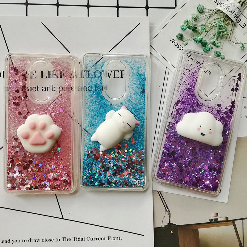 Cute <font><b>3D</b></font> Squishy Cat Case For <font><b>Xiaomi</b></font> <font><b>Redmi</b></font> 5 5 plus 4X <font><b>4A</b></font> 5A 2S Luxury Glitter Quicksand Phone Case <font><b>Redmi</b></font> note 5 pro 4 3 5A prime image