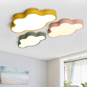 Image 2 - MDWELL Modern Led Ceiling Lights Cloud Shape LED For Bedroom Kids Children Room Luminaire Cute Wooden Ceiling Lamp Fixture