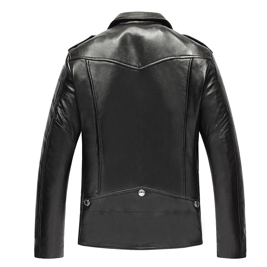 HTB1NjEuadfvK1RjSspoq6zfNpXaF Free shipping.brand new black mens sheepskin jacket.classic biker soft genuine leather coat.fashion plus size style slim jackets