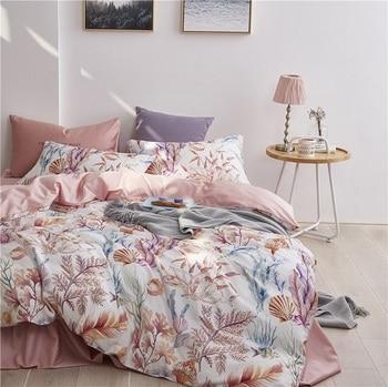 Egyptian Cotton Bedding Set Pink Floral
