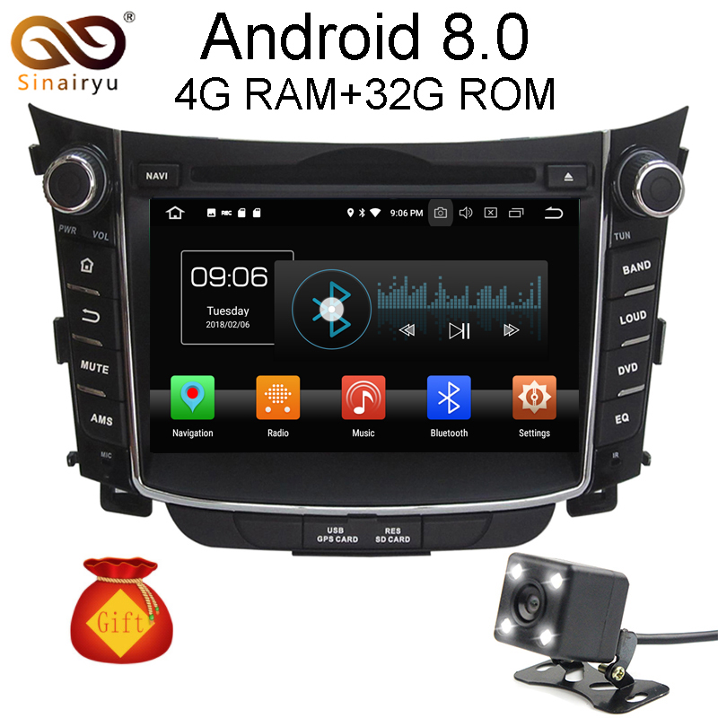 Octa Core 4GB RAM Android 8.0 Car DVD Radio GPS For Hyundai I30 2011 2012 2013 2014 2015 4G TV Navigation Multimedia Head Unit