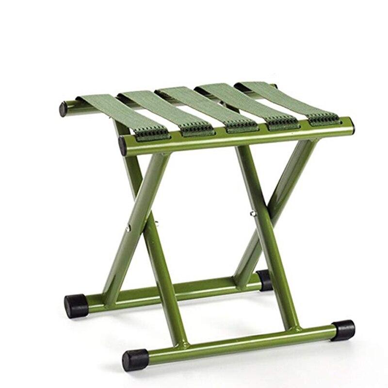Chaises pliantes Tatami vert épais en acier à haute teneur en carbone Portable Camping pêche tabouret pliant extérieur adulte petit Mazza
