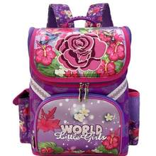 New Arrivel Backpack Snow Queen School Bag Orthopedic Children School Bag  Princess School Backpack Mochila Infantil For Girls 54fe4a41fdd91