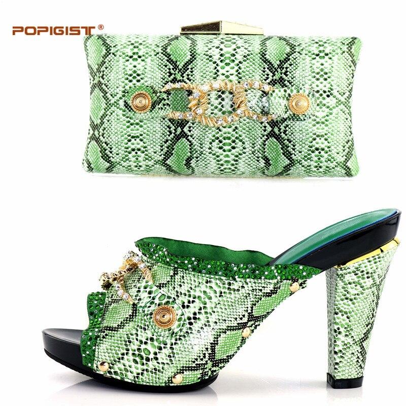 Africana fuchsia Nigeria pink Y Altos Verde Colores orange Mujeres Elegantes Black green Zapato Tacones Juego gold Zapatos Boda De Bolso red purple silver blue 10 YwSRqw