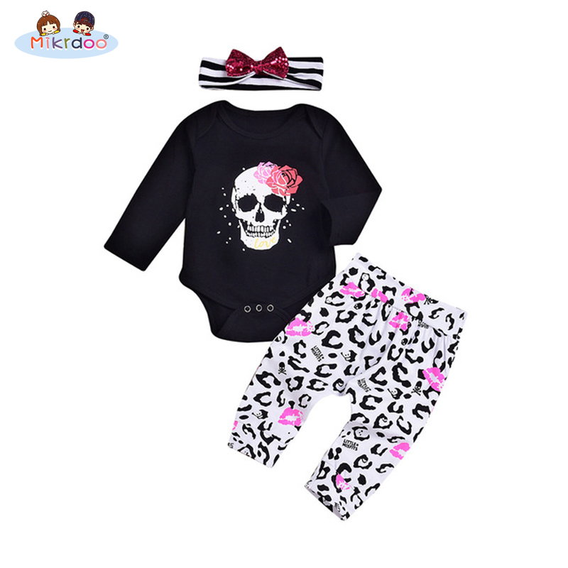 2018 fashion 3pcs newborn baby winter clothing set Toddler Infant Baby Boy Girl Clothes T-shirt Tops+Pants Outfits sport Set