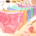 Girl Cotton Panties Candy Colors Solid Lace Underwear Low-Rise Girls Pink Lovely  Cozy Teenage Lingerie Young Women Underpants