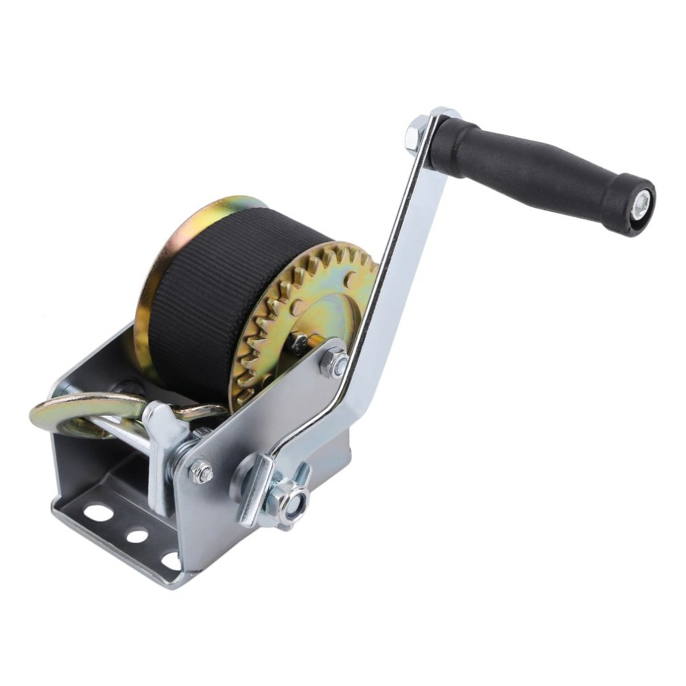 Manual Hand Winch 600lbs Boat Trailer For Caravans 6m Strap Marine Truck Puller Lifting Releasing Sling Hauling Tool for Car