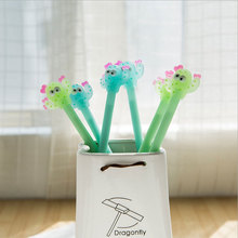 2pcs/lot Cactus styling pen Cute cartoon School students office supplies Children like the  gift kawaii  Reward material gel pen недорого