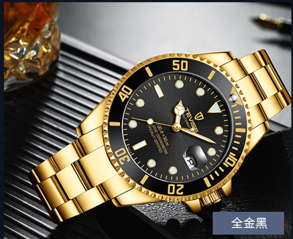 HTB1NjGFKr1YBuNjSszeq6yblFXam Tevise Luxury Waterproof Automatic Men Mechanical Watch Auto Date Full Steel Business Top Brand Man Watches Water Resistant T801